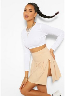 Caramel beige The Tennis Skirt