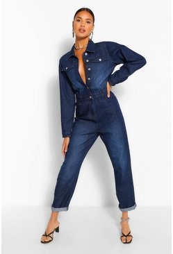 Indigo blue Denim Pocket Boilesuit