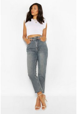 Mid wash blue High Waisted Skinny Jean