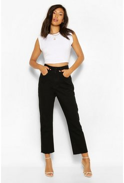 Washed black High Waisted Skinny Jeans