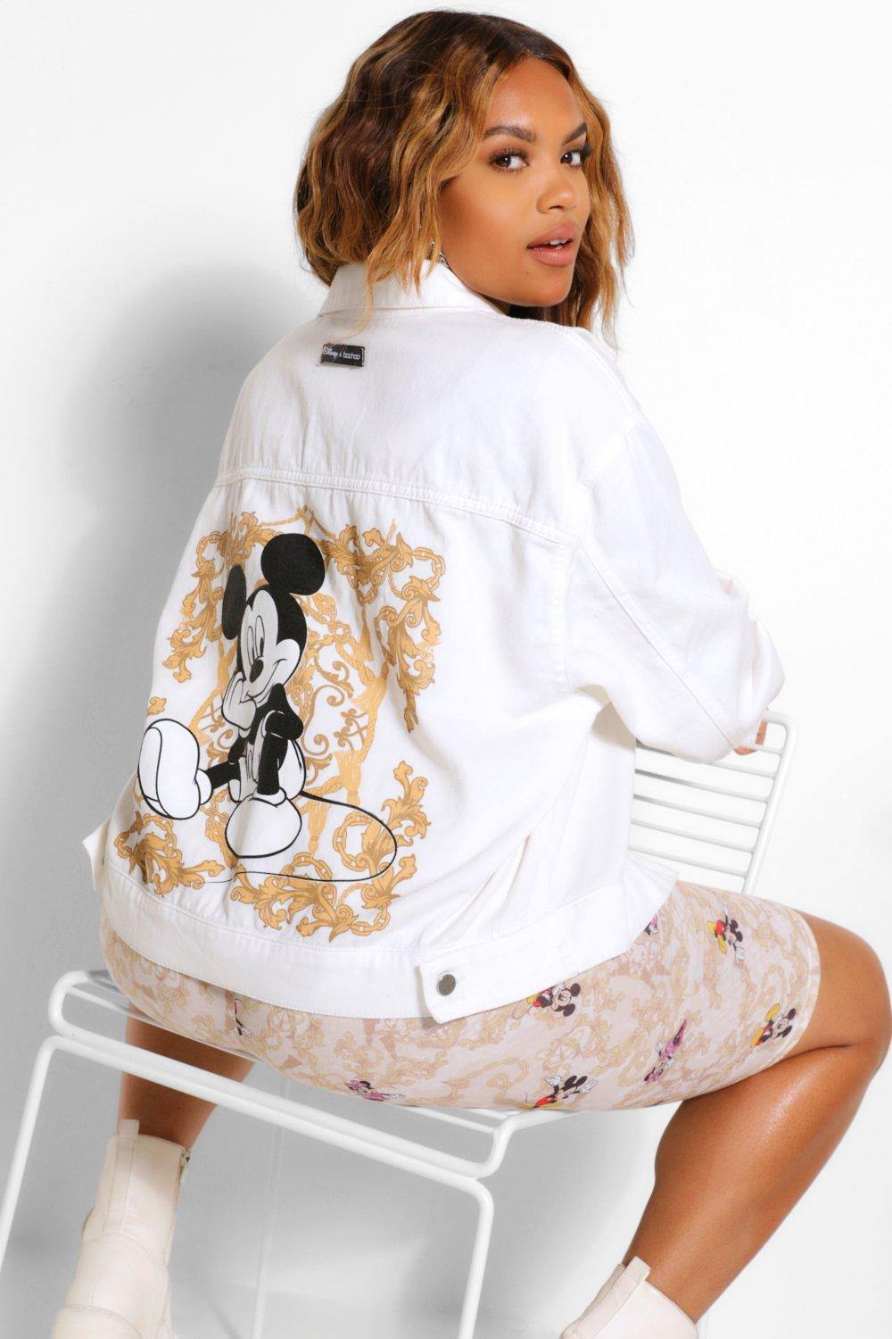Disney x Boohoo Plus Mickey Graphic Denim Jacket 8