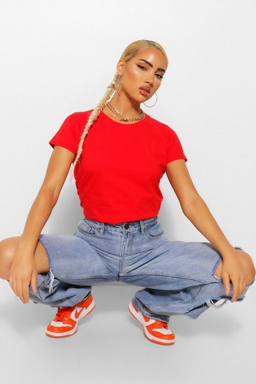 Red Lady-Fit Softspun Fitted T-Shirt