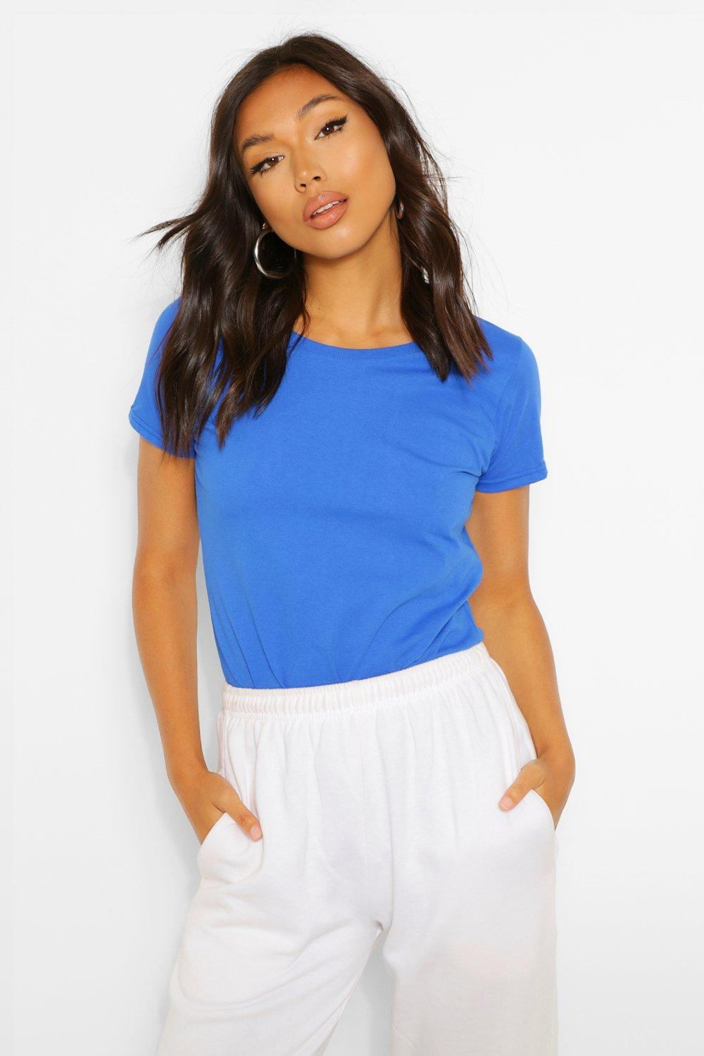TOPS Blue Lady-Fit Softspun Fitted T-Shirt