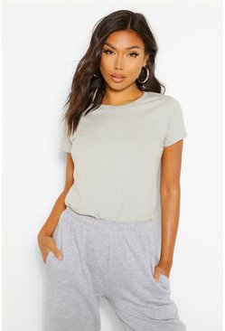 Silver grey Lady-fit Softspun Fitted T-shirt