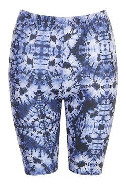 Blue Tie Dye Cycling Shorts