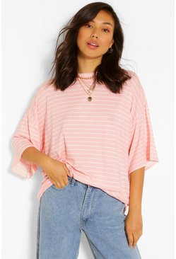 Blush Striped Short Sleeve Top