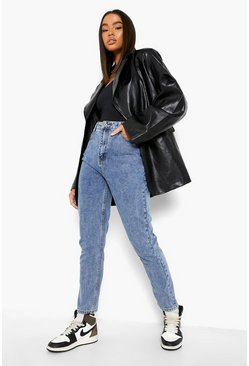 Vintage wash blue Denim Mom Jeans