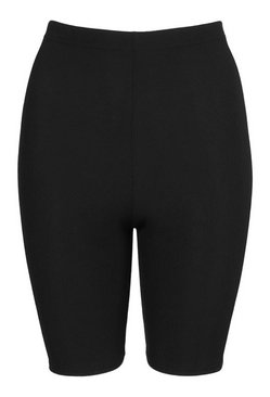 Black Rib Cycling Short
