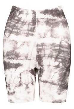 Black Tie Dye Cycling Shorts