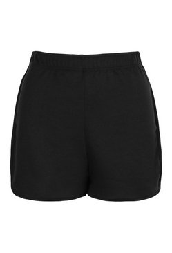 Black Soft Loopback Shorts