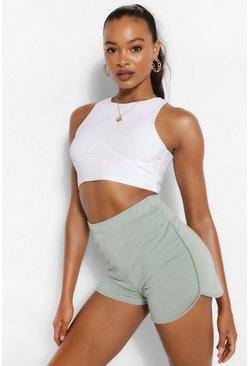 Sage green Soft Loopback Shorts