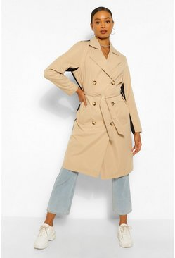 Black Contrast Colour Trench Coat