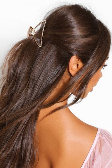 Gold metallic Triangle Cut Out Metal Hair Grip