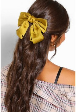 Lime Bow Hair Clip
