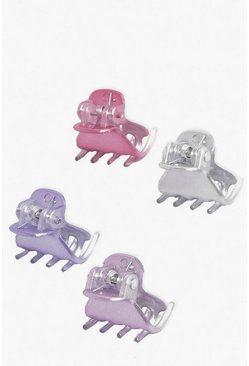 Pink 4 Pack Coloured Bulldog Clip