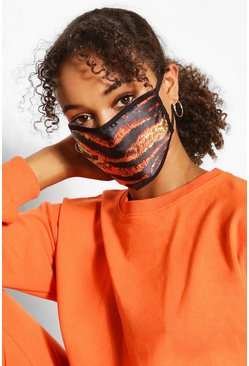 Brown Tiger Fashion Face Mask