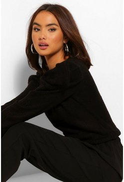 Black Shoulder Detail Jumper