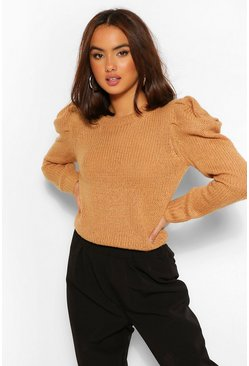Camel beige Shoulder Detail Jumper