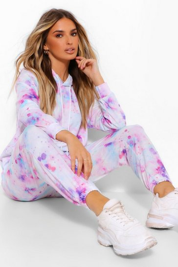 Lilac Tie Dye Hooded Tracksuit