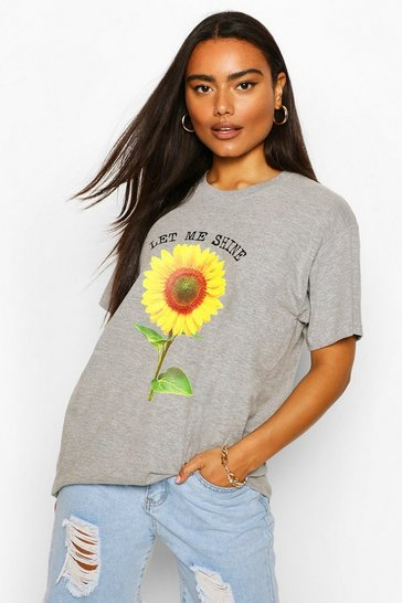 Grey Let Me Shine Graphic T-Shirt