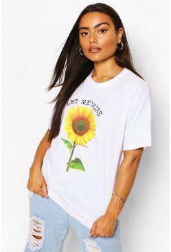 White Let Me Shine Graphic T-Shirt