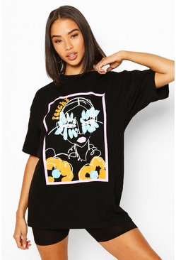 Black Peachy Graphic T-Shirt