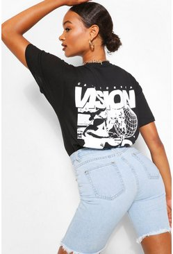 Black VISION CALIFORNIA BACK PRINT TSHIRT