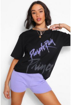 Black Prince Purple Rain Slogan Licence Graphic T-Shirt