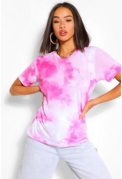 T-shirt effet tie-dye, Orange rose