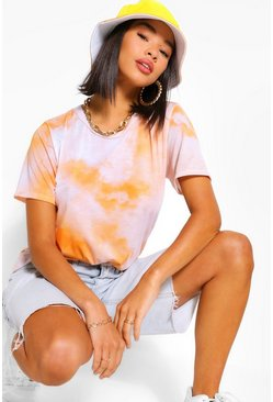 T-shirt effet tie-dye, Orange