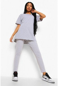 Black svart Två set med t-shirt och leggings (2-pack)