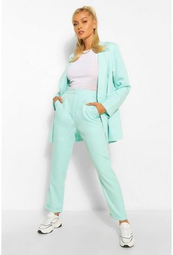 Mint Tailored Roll Up Crop Trouser