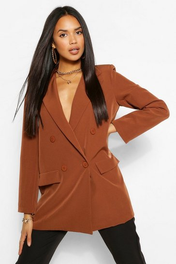 Chocolate The Oversized Boyfriend Blazer