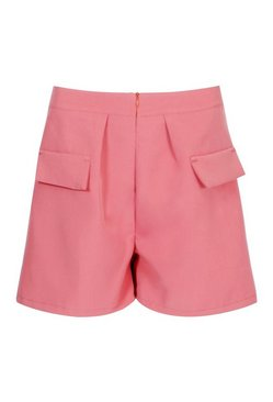 Apricot Tailored Pocket Flippy Shorts