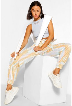 Peach orange Tonal Tie Dye Relaxed Joggers