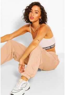Peach orange Basic Loose Fit Joggers