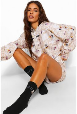 Black Disney X Boohoo Mickey Face Socks