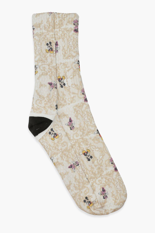 ACCESSORIES Disney X Boohoo Chain Print Socks
