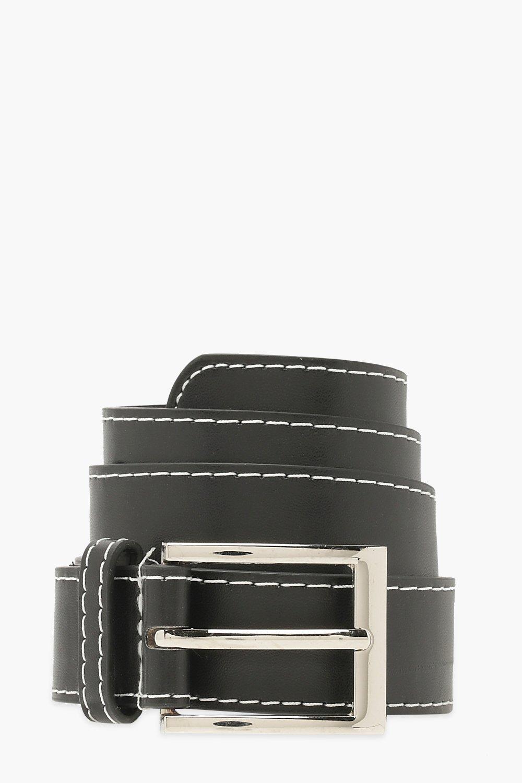 Sale Accessories Contrast Stitch Boyfriend Belt