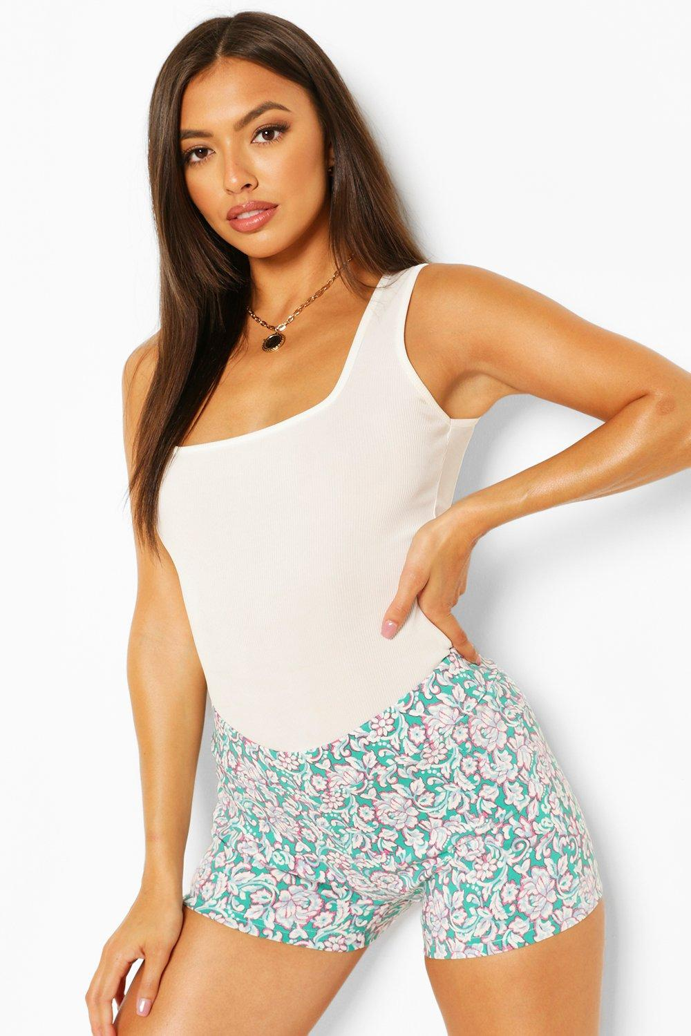 Shorts Floral Stretch Woven Shorts