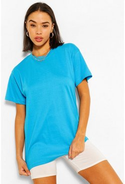 Blue Basic Short Sleeve T-Shirt