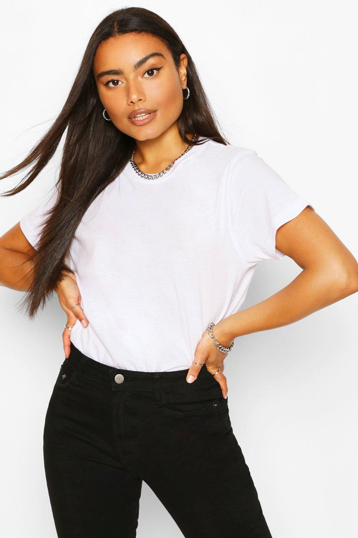 Womens Sale White Basic Short Sleeve T-Shirt