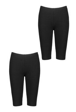 Black 2 Pack Basic Cycling Short