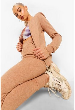 Camel beige Knitted Tracksuit