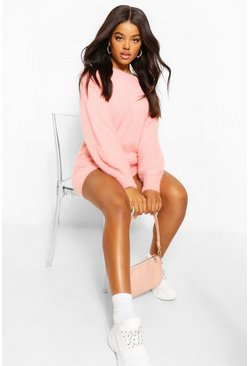 Blush pink Premium Fluffy Knit Jumper
