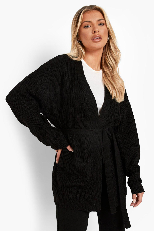 Oversize Belted Cardigan | boohoo