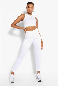 White 2 PACK HIGH WAIST CASUAL JOGGER