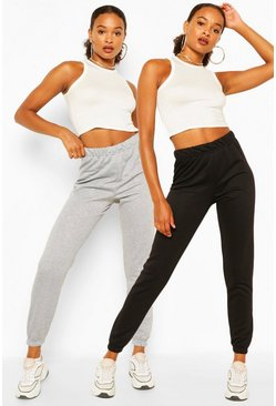 Black 2 PACK HIGH WAIST CASUAL JOGGER