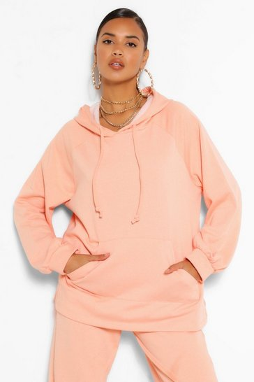 Apricot MIX AND MATCH SIDE SPLIT OVERSIZED HOODY