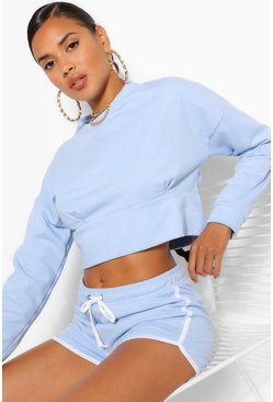 Blue MIX AND MATCH CROP SWEATER
